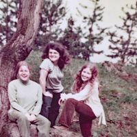 Denise LaForge with Lucy MillerClass of 69 and friend.JPG